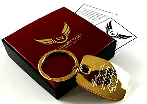 Serenity Prayer 24 Carat Gold Plated Keyring Key Chain in Gift Case 12 Steps Twelve Step Programme Alcoholics Anonymous
