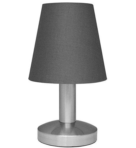 Touch Me Dimmer Nachttischlampe/ Leselampe/ Tischlampe, 3-stufige Touchfunktion, (graun)