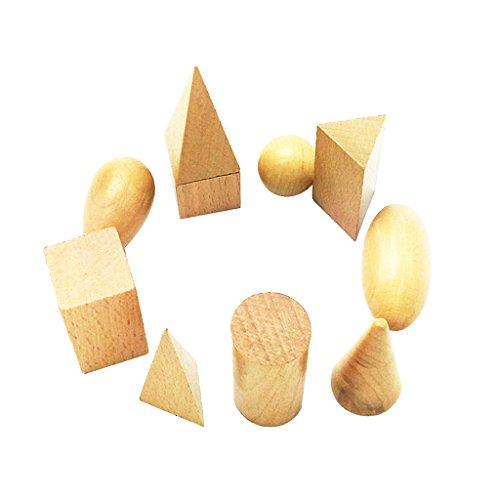 Juegos de Aprendizaje Geometría Sensoriales Niños Madera