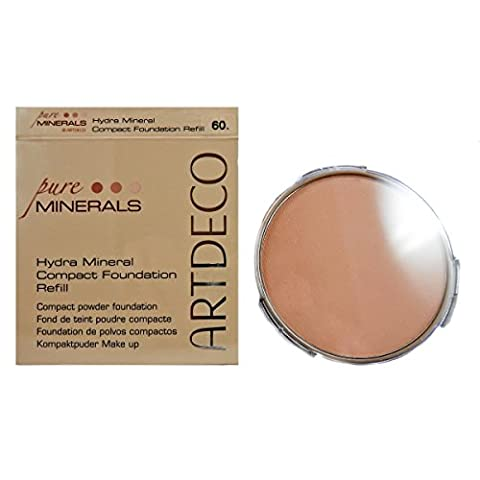 Artdeco Hydra Mineral Compact Foundation refill, Farbe Nr. 60, light beige, 1er Pack (1 x (Compact Mineral Foundation)