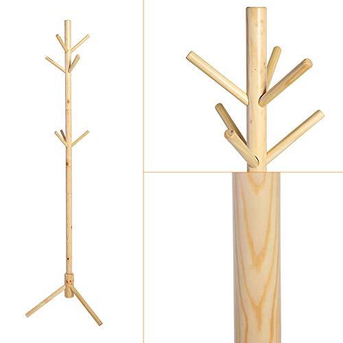 Mantel Hut Steht (Wenhua Holz 9 Haken Baum Stil Mantel Hut Rack Bag Kleidung Kleiderbügel Steht Hängende Schals Hüte Taschen Kleidung Regal)