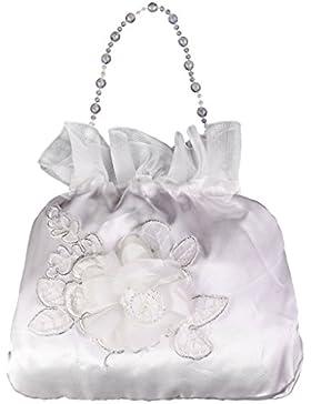 Elegante Satin Brautbeutel Handtasche Blumenmädchen Braut Tasche Dolly Bag