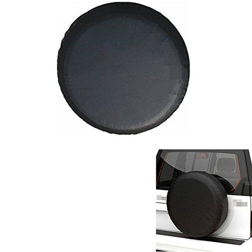 ABy Schwarz Wasserdicht Auto Reifenhülle Reifencover Ersatzradabdeckungen Reserveradabdeckung für Reifentypen-14inch(60-69cm)