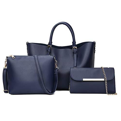 Dtuta Damenhandtaschen Groß Schultertaschen FüR Damen Groß Frauen Einfarbig Mode LäSsig Vier Stücke KapazitäT Handtasche UmhäNgetasche Messenger Bag Clutch Bag Einfach