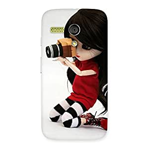 Delighted Dolly Pic Multicolor Back Case Cover for Moto G