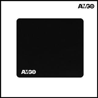 amgo Großer Gaming Mauspad/Pad-Schreibtisch–Extra dicke 6mm–33x 28,4x 0,6cm–Maus Präzision Enhanced, Unterseite aus rutschfestem Gummi–Schwarz, XXL–10Jahre Garantie