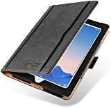 iPad 4 Case - The Original Black & Tan Leather Smart Cover for iPad 4 (with Retina Display), iPad 3 & iPad 2