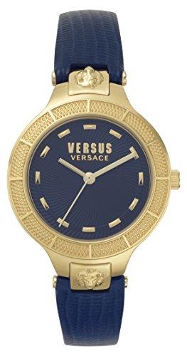 Versus by Versace Femme Analogique Quartz Montre avec Bracelet en Cuir VSP480218