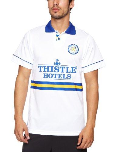 Score Draw Official Retro Leeds United 1994 Men s Retro Football Shirt - White  Medium