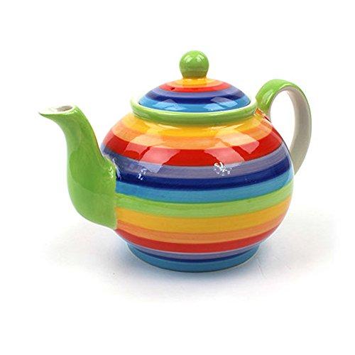 Windhorse Rainbow Teapot | Large Rainbow Teapot | Ceramic Rainbow teapot 4