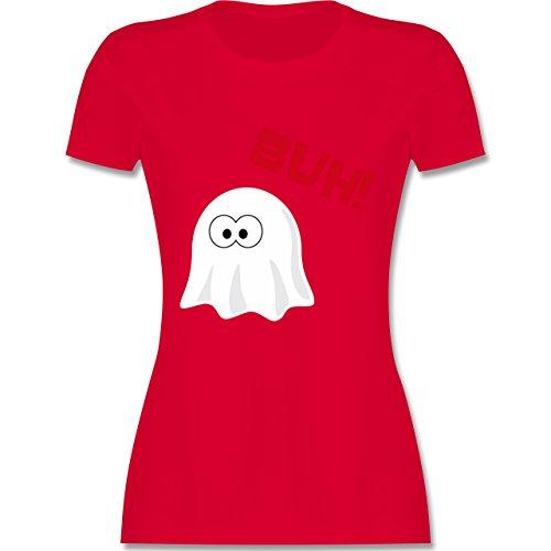 Halloween - Kleiner Geist Buh süß - tailliertes Premium T-Shirt mit Rundhalsausschnitt für Damen Rot