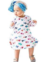 Likecrazy M/ädchen Freizeit Kleid S/äugling Baby M/ädchen Prinzessin Kleid Streifen Skull Kleid Kinder Kleinkind T-Shirt Kleid Partykleid