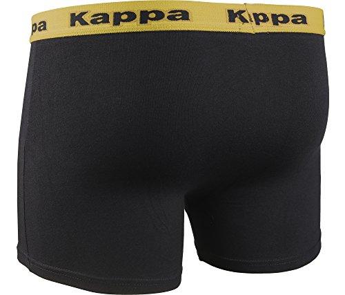 Kappa Herren modische Boxershort Schwarz/Grün-30555
