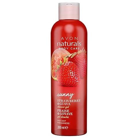 Avon Naturals Shower Gel, Strawberry and Guava 200 ml