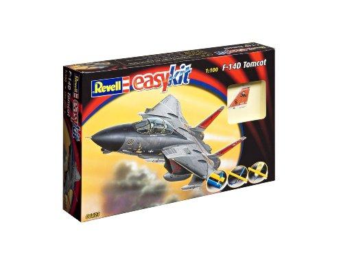 Revell 06623 - Modellbausatz Flugzeug 1:100 - F-14D Tomcat easykit im Maßstab 1:100, Level 2, originalgetreue Nachbildung mit vielen Details