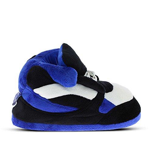 Sleeper'z - Zapatillas de casa Originales y Divertidas de Hombre y Mujer - Sneakers Azul y Negro - 42/44 (XL)