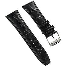 Pulsera Fashion-Material de la correa Lotus de cuero negro para Lotus  L18221 b8f352959fe4
