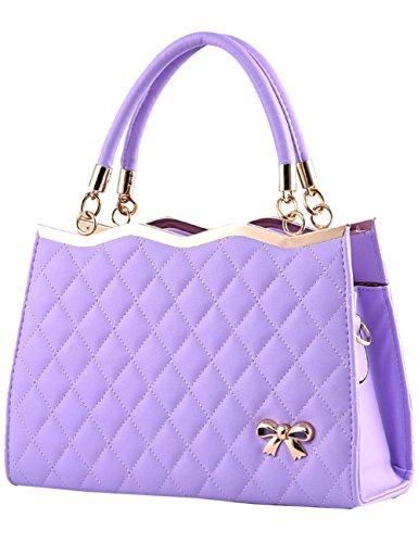 dd71ec4f1ea00 Menschwear Damen Handtasche Marken Handtaschen Elegant Taschen Shopper  Reissverschluss Frauen Handtaschen Lila Lila
