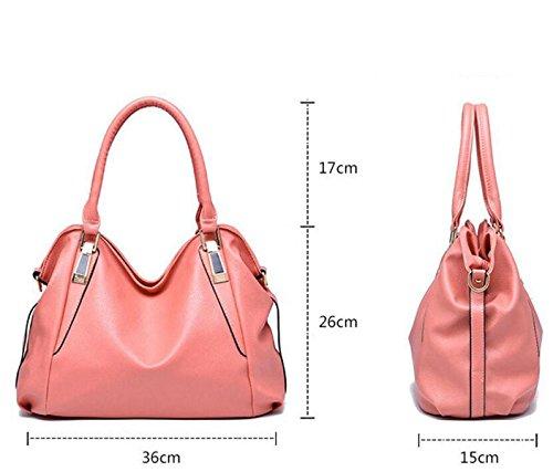Pacchetto Ms. Borse Moda Borsa Morbida Spalla Del Messaggero Borsa Del Computer Portatile Bag Busta Polso Sacchetto Di Svago Black