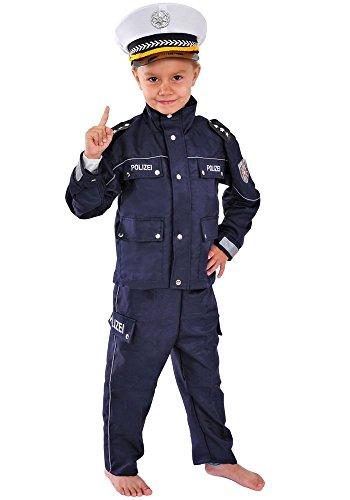 Polizei Kinder Kostüm 122 - 128 für Fasching Karneval Polizist