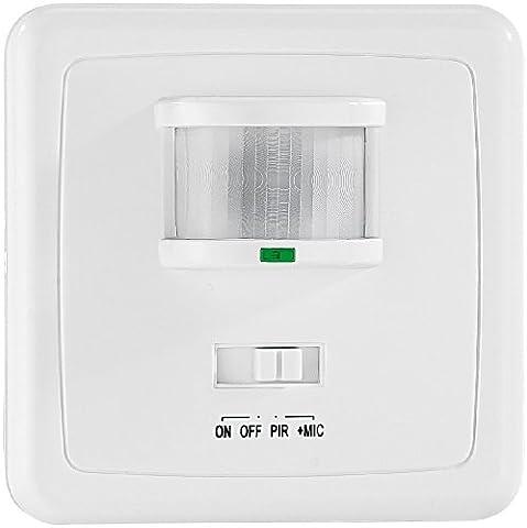 revolt Automatischer Lichtschalter mit Bewegungsmelder & Sound-Sensor