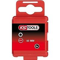 "KS Tools 911.2732 Boite de 5 Embouts de vissage torx T20 50 mm 1/4"""