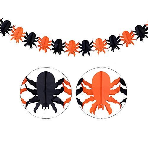 Sue-Supply Halloween Party Dekorationen Kürbis Skelett Ghost Spider Bat Form Multicolor Pull Flower