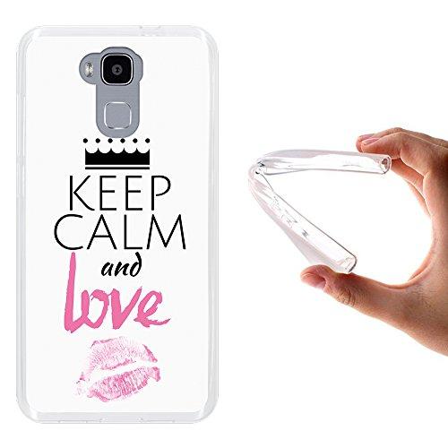 WoowCase Doogee Y6 4G Hülle, Handyhülle Silikon für [ Doogee Y6 4G ] Keep Calm and Love Handytasche Handy Cover Case Schutzhülle Flexible TPU - Transparent