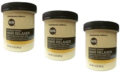 Base Creme Hair Relaxer (3x Relaxer / Glättungscreme TCB No Base Creme Hair Relaxer MILD 425ml (insgesamt - 1275g))