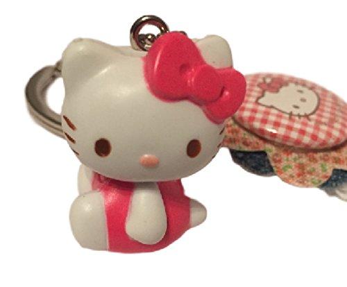Schlüsselanhänger Hello Kitty mit Figur und Schleifen-Anhänger Hello Kitty Figuren