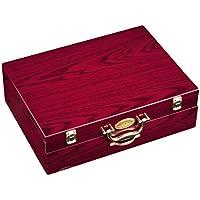 Pradel Excellence D635C - Cubertería de 84 piezas (en estuche de madera rojo con cajón)