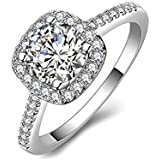 Couple Wedding Women Ring Silver Color Size 6