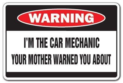 Neuheit Geschenk I 'm the Automechaniker ACHTUNG Schild Auto Fix Tech Techniker Autos Yard Dekorative Aluminium Metall Schild für Schlafzimmer, Büros