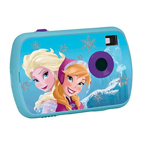Lexibook LE-DJ017FZ Fotocamera Digitale per Bambine, 1.3 Mp, Frozen, Azzurro