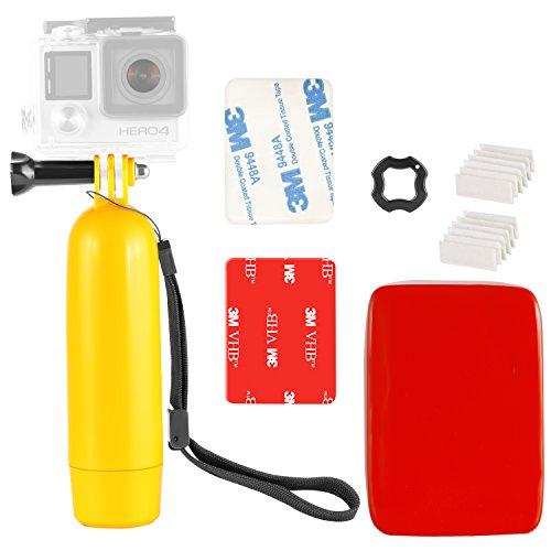 Neewer Action Kamera Tauch Wasserdicht Aufschwimmende Halterung Hand Griff für Gopro Hero 7 6 5 4 3 2 1 APEMAN Lightdow Cymas AKASO EK7000 SJ7000 SJ4000 Action Kamera und vieles mehr