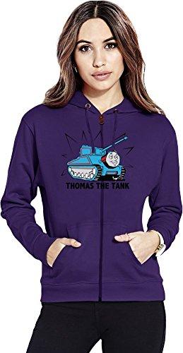 Thomas the Tank Zipper Hoodie X-Large (Purple Train Thomas)