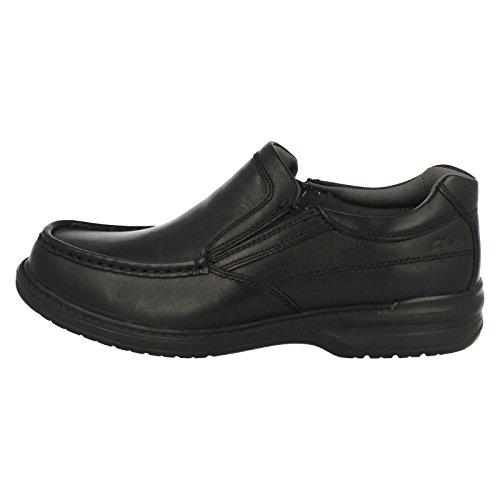 Breite Mens Schritt Slip On Schwarz Clarks Keeler Schuhe q8Aw6Z6