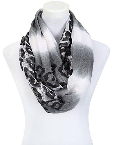 Écharpe en tissu style élégant-grand modèle-wilder mélanges de motifs afrique-désert meet ´ s motif léopard-bel automne-accessoires Multicolore - Gris argenté