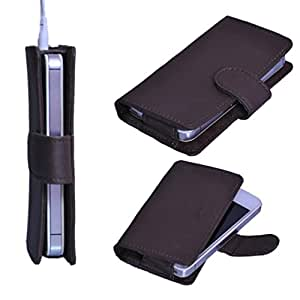 StylE ViSioN Pu Leather Pouch for Lava iris 504Q