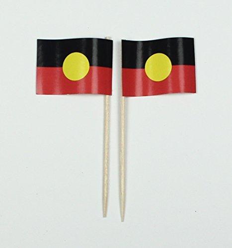 Aborigines Australien Papierfähnchen in Profiqualität 50 Stück Beutel Offsetdruck Riesenauswahl aus eigener Herstellung (Halloween In Australien)