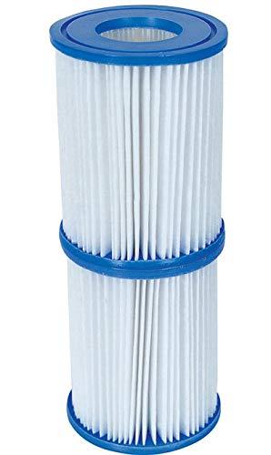 Bestway Lot de 4 Cartouches de Filtration pour Pompes de Piscine Intex Taille 2