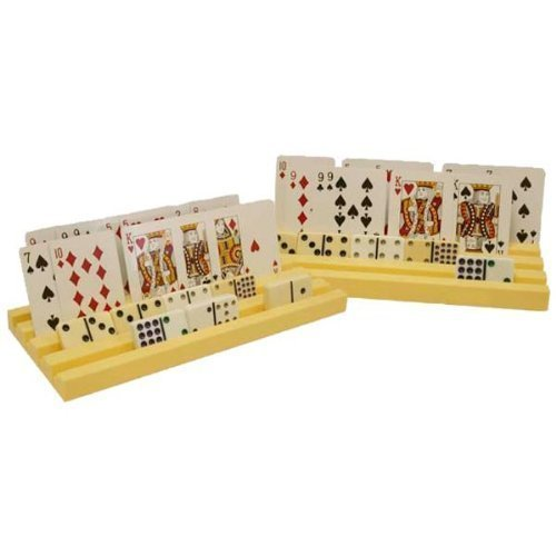 Set of 2 Holders / Racks / Trays for Domino Tiles and Playing Cards