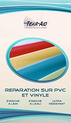 Tear-Aid Kit de réparation instantanée et sans colle de vestes, bâches, jouets et bateaux gonflables en PVC ou en vinyle