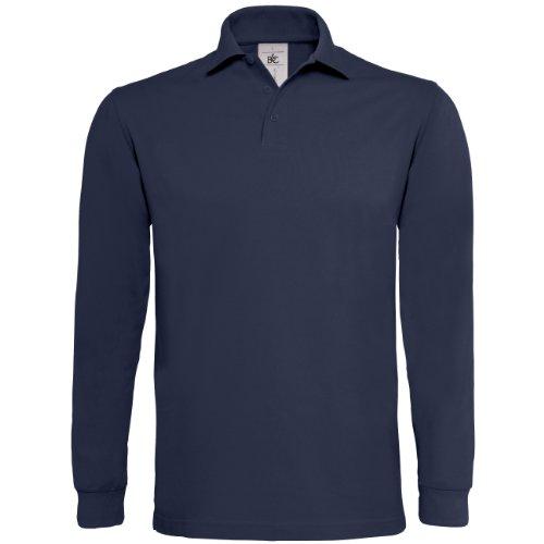 B&C - Polo Manica Lunga 100% Cotone - Uomo Nero