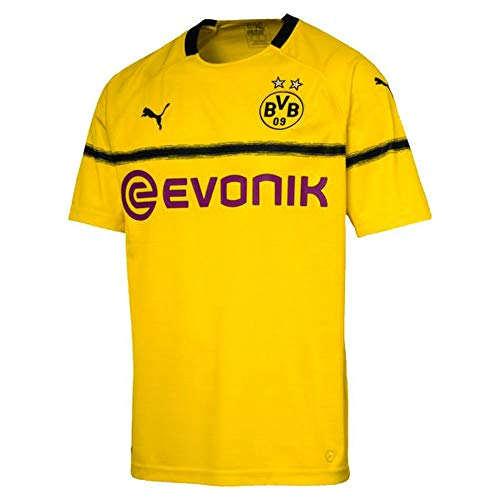 Puma BVB Cup Replica with Evonik Logo Without Opel Jersey, Hombre, Cyber Yellow, M