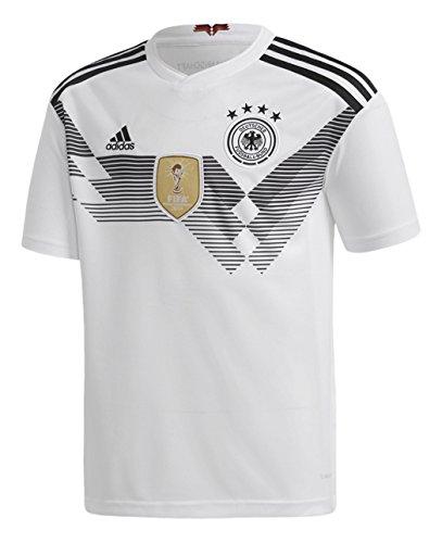 adidas Jungen Dfb Heim-Trikot WM 2018 Kinder Fußballtrikot, Weiß/Schwarz, 128