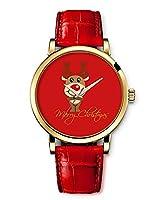 2015 new Leather Watch fashion wrist women For Children Girls Women Merry Christmas elk cartoon