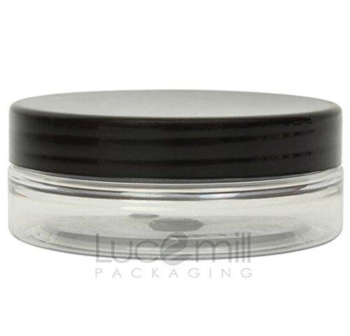 10 bocaux de 50 ml - En plastique PET transparent - Pour produits cosmétiques - Avec couvercles noirs à visser - Pour crèmes, liquides, maquillage, huiles - Pour les déplacements
