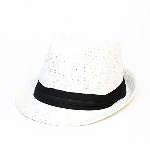 Herren Damen/Frauen Unisex Woven Fedora Panama Trilby Sommerhut Kappe/Hüte/Mütze...