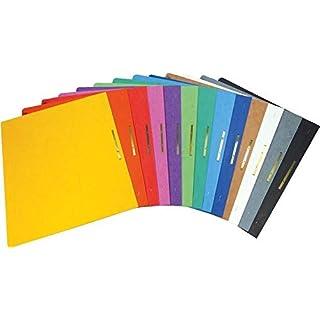Brunnen Schnellhefter Pappe extrastark - GROßPACK bunt - 13 Stück bzw. Farben im Pack - für Schule, Job, Büro und zu Hause